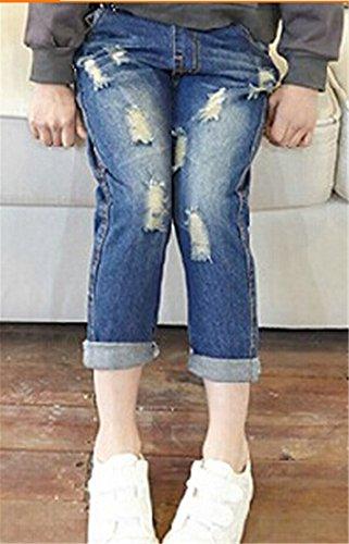 TM Little Girls Boys Ripped Pockets Pants Jean Trousers 2T blue
