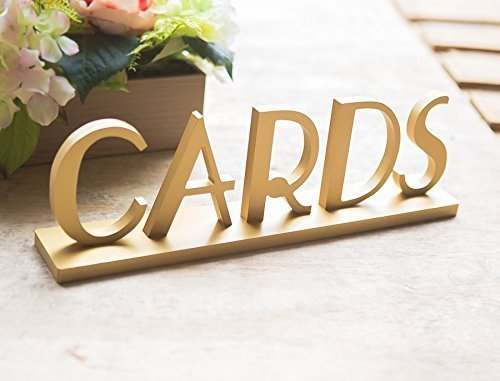Great Gatsby Style Cards Table Sign for Chic Party and Event Reception Decorations Vintage Wedding Cards Sign for Table