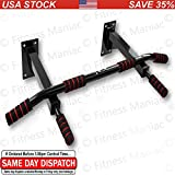 Authentic Wall Mounted Chin Up Pull Up Exercise Bar Chinning Up Bars Bracket Workout Dip Station