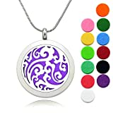 Best Necklaces Magnetics - Lademayh Aromatherapy Essential Oil Diffuser Necklace Wave Pendant Review