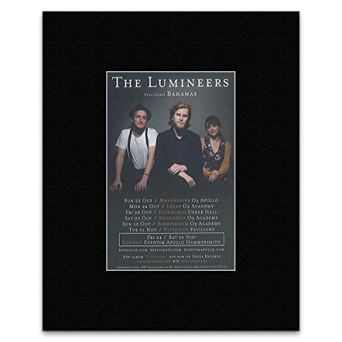 Tour Dates Poster (Lumineers - (New Date Added) 2016 UK Tour Mini Poster - 25.4x20.3cm)