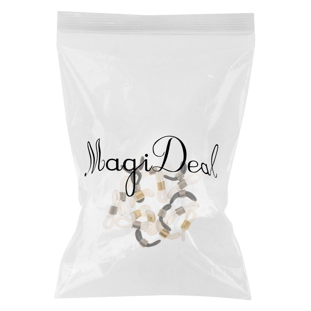 MagiDeal 18 x Gummi-Brillen-Kettenenden Gummi-Enden Steckerhalter f/ür Brillenhalter Brillenb/ügel-Enden