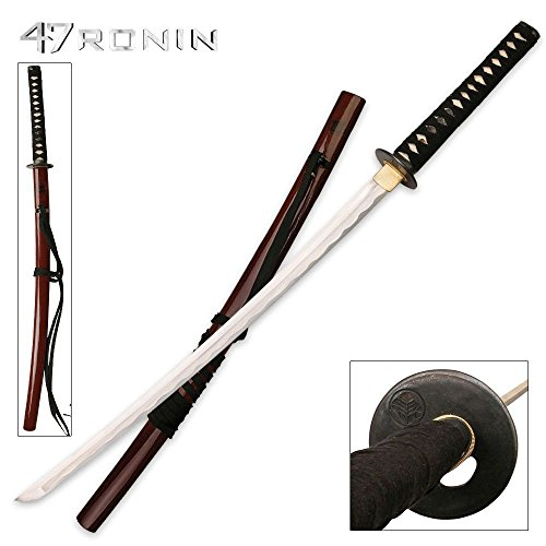 47 Ronin MC-47R001 Officially Licensed Samurai Sword with Ray Skin Handle, Burgundy Splatter Scabbard, 42-1/2-Inch Overall (Ninja Sharp Feathers compare prices)
