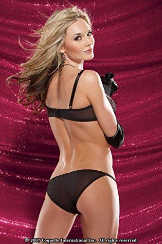 e64df544e759b Jual Coquette Sequin Lace Mesh Peek-a-Boo Bra   Panty - Small ...