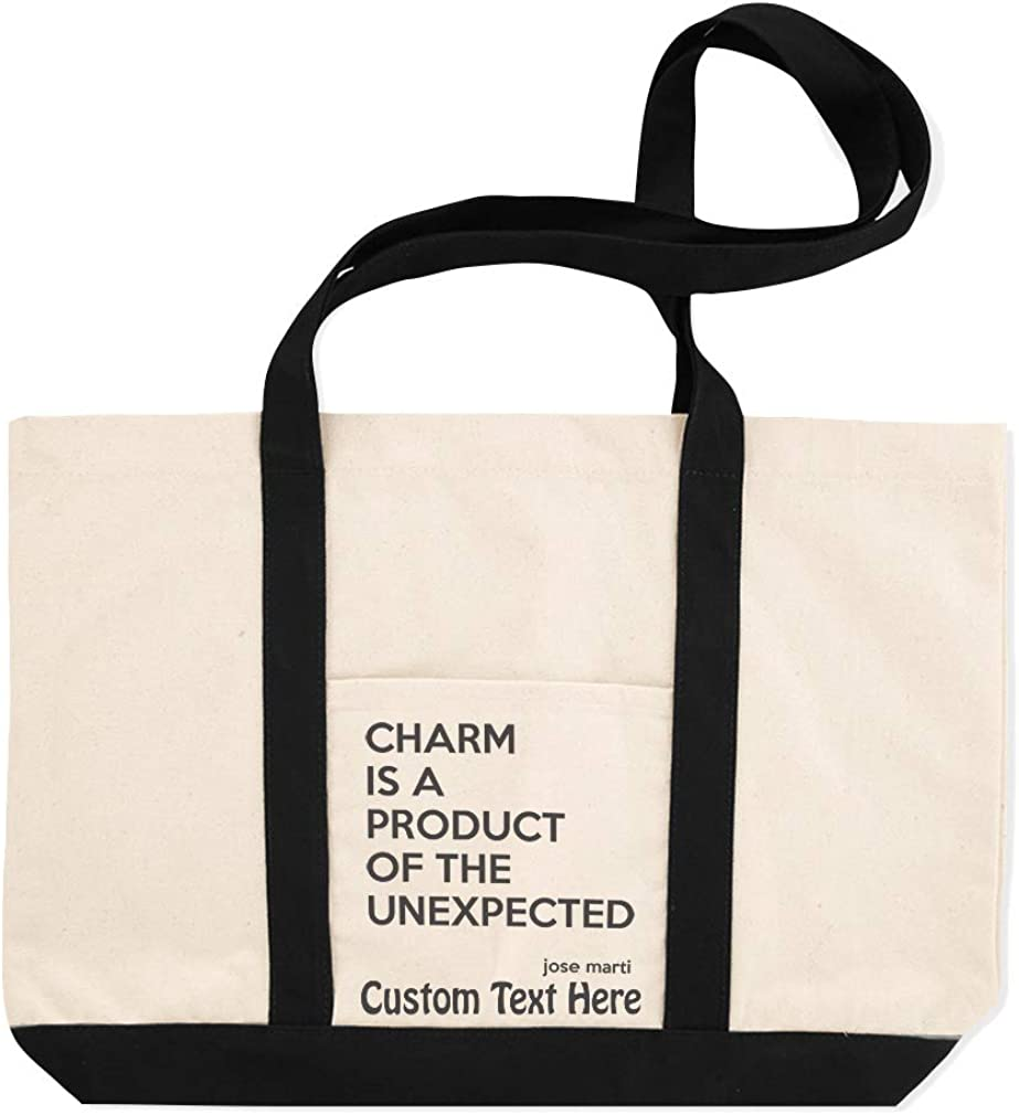Canvas Shopping Tote Bag Famous Quote Charm Is A Product of The Unexpected Jose Marti Charm