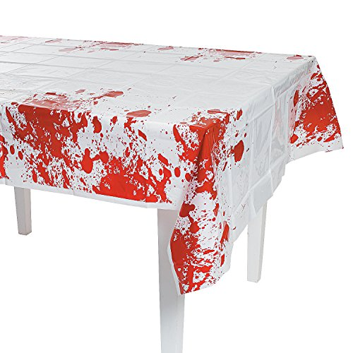 Fun Express Zombie Blood Table Cover Party Decor -