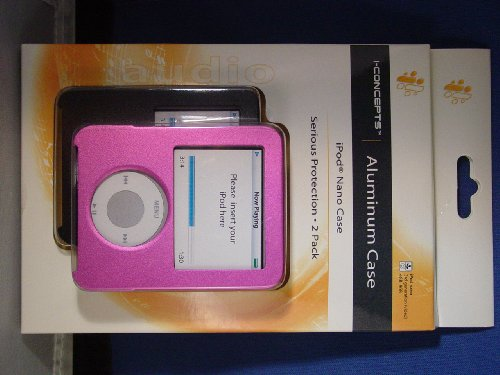 I-Concepts Aluminum Cases - 2 Pack - for iPod nano 3rd generation (video) 4GB (Apple Ipod Nano 4 Gb Accessories)
