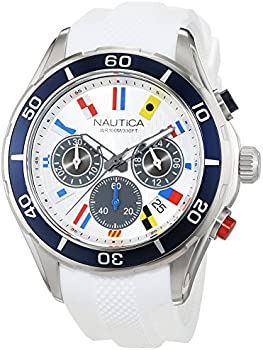 Nautica NST 12 Chronograph Silver Dial Men's Watch