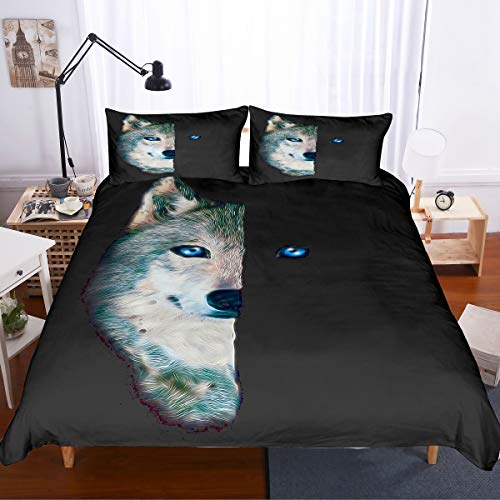 PATATINO MIO Wolf Bedding Set Full Size for Boys,3D for sale  Delivered anywhere in USA