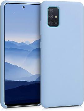 Protector Trasero en Frambuesa met/álico Carcasa m/óvil de Silicona kwmobile Funda Compatible con Samsung Galaxy A51