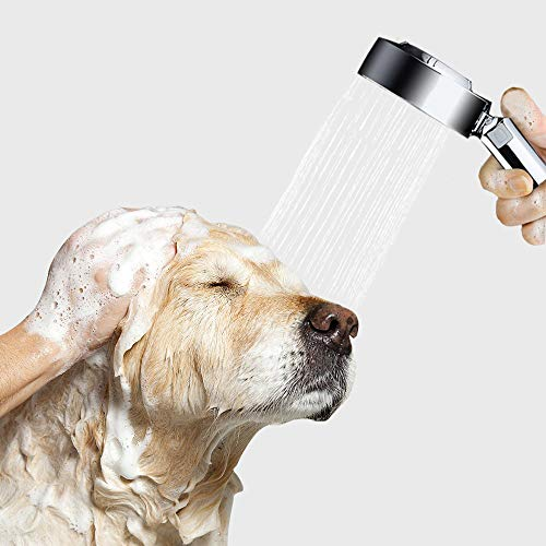 (Paws of Mind All-in-One Shampoo & Rinse Shower Sprayer, Handheld Showerhead Attachment Set with 58 inch Hose, Indoor & Outdoor Pet Dog Cat Horse Grooming & Washing, Also Ideal for Bathing Children)