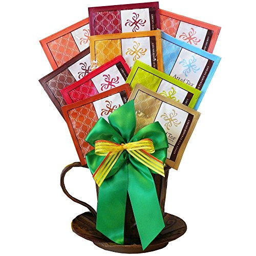 A Cup of Cheer Organic Tea and All Natural Cookie Gift Basket