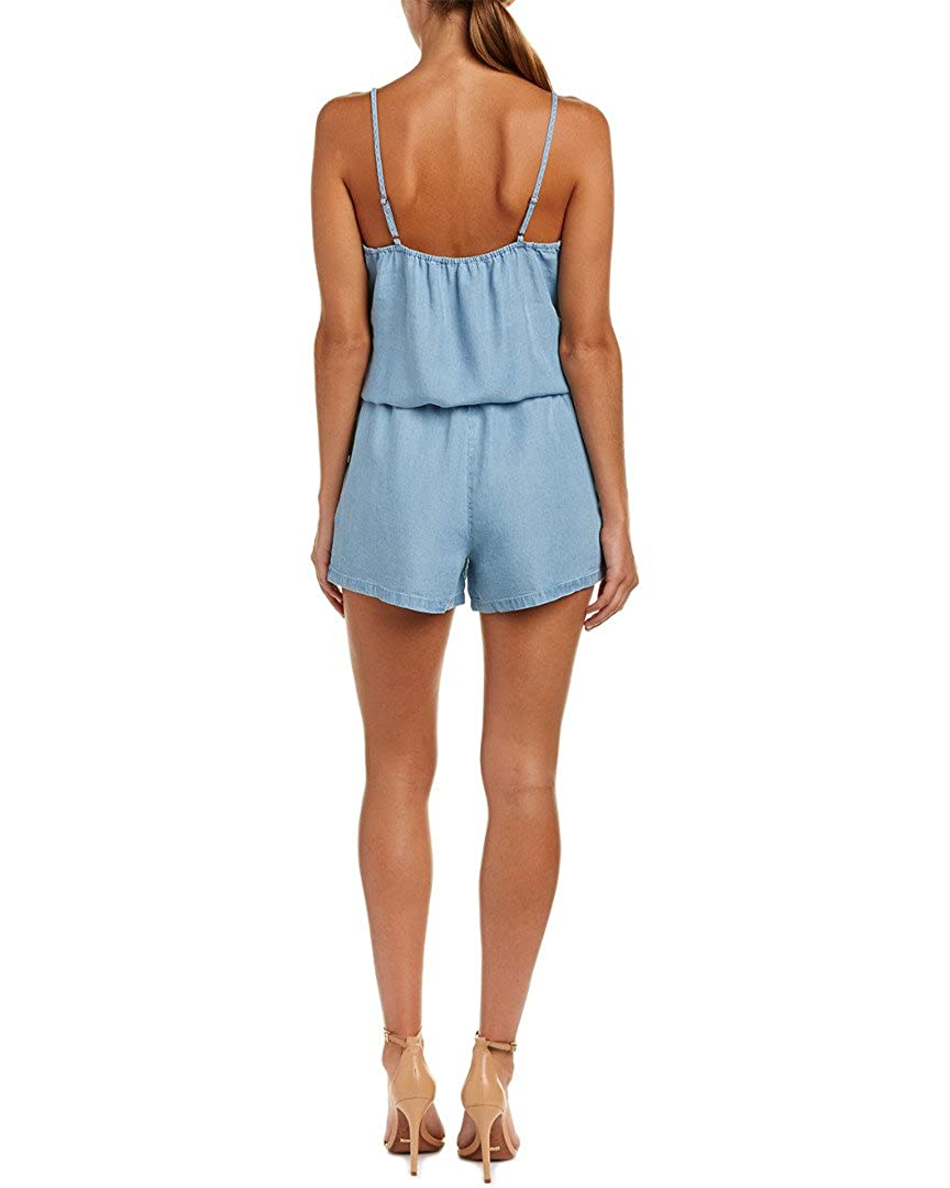 a5d2d168fa6 Amazon.com  Splendid Womens Chambray Sleeveless Romper  Clothing