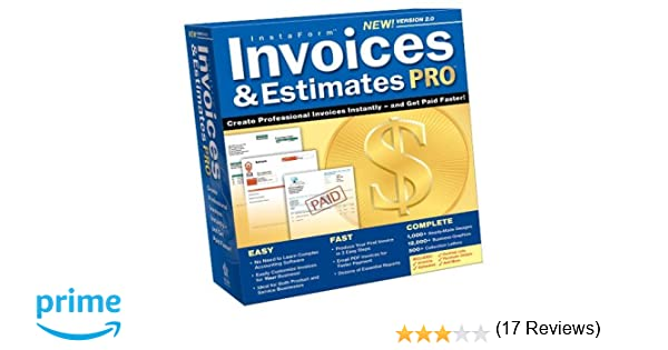 Graphic Design Invoice Template Word Word Amazoncom Invoices And Estimates Pro  Software Invoice Templates Free Download Word with Fake Receipt Maker Online  Customizing Invoices In Quickbooks Excel