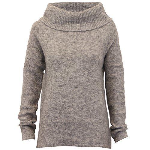 Threadbare Damen Rollkragen Pullover Damen Strickpulli Pullover Top Winter grau - ilv096 A8V2x