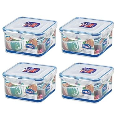 Lock & Lock, No BPA, Water Tight, Food Container, 5-cup, 40-oz, Pack of 4, HPL822D