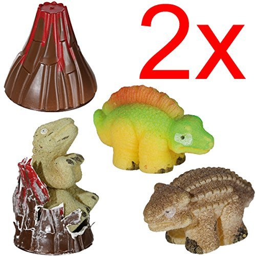 2 X GROWING DINOSAUR IN VOLCANO EGG HATCHING MAGIC TOY GIFT XMAS KIDS FUN DINO