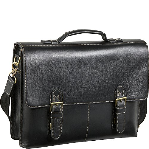 amerileather-classical-leather-organizer-briefcase-black
