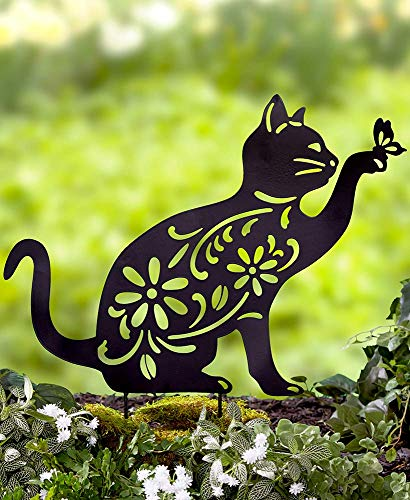 Ltd Commodities LLC The Lakeside Collection Animal Silhouette Stake - Cat