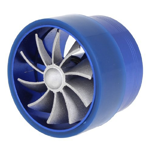 Price comparison product image Turbonator Intake Single Fan Gas Fuel Saver Blue Supercharger for Auto