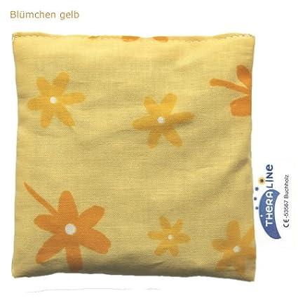 Theraline Kirschkernkissen Bl/ümchen gelb