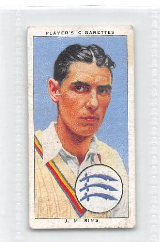 James Sims 1938 Contestant Cigarettes Cricketers #23 (GOOD)