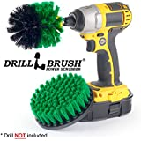 Drillbrush Shower, Tub and Tile Powered Scrubber Nylon Brush in Green with Quarter Inch Quick Change Shaft