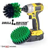 Shower, Tub and Tile Powered Scrubber Nylon Brush in Green with Quarter Inch Quick Change Shaft