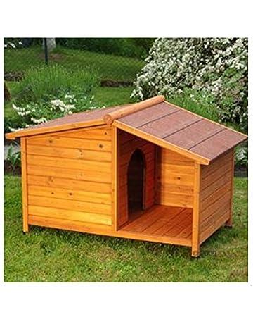 eCommerce Excellence - Caseta para perros de madera y con techo. Ideal para proteger a