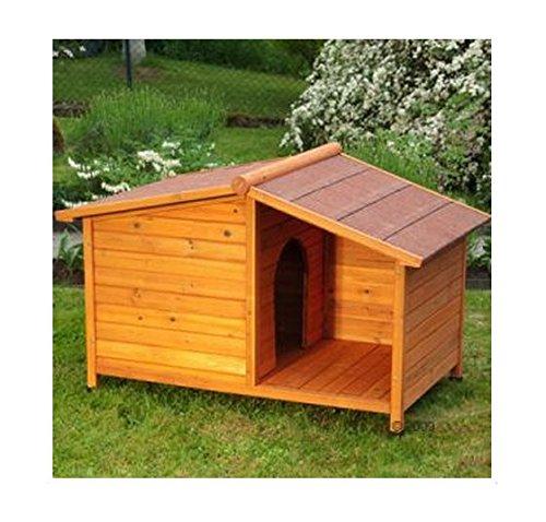 eCommerce Excellence Holz-Hundehütte mit Dach, schützt Hunde / Katzen vor Regen und Sonne
