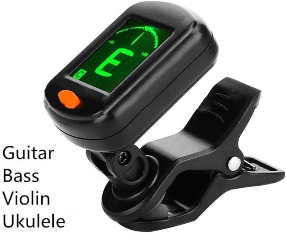 Plegable de alta sensibilidad Guitarra Cuerpo Bajo Pastillas Sintonizador de guitarra Tipo de clip digital Sintonizador de guitarra digital eléctrico