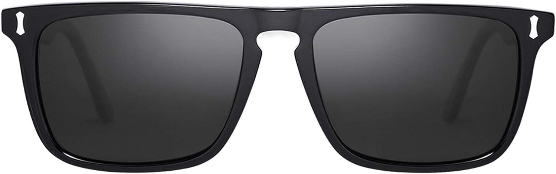 Carfia Retro Gafas de sol Hombre Polarizadas UV400 Protección para Conducir Pesca al Aire Libre Marco de Acetato …
