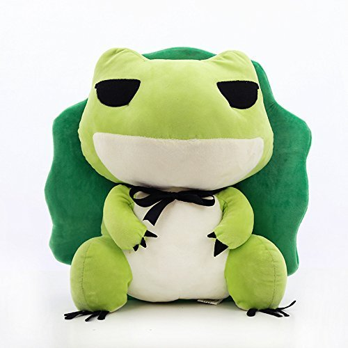 Margoth Kawaii Stuffed Animal Plush Doll Toys Cure Throw Pillow with Removable Hat - Traveling Frog , Soft Pendant Stuff Toys for Adults, onlyday Kids (9 inch (23cm))
