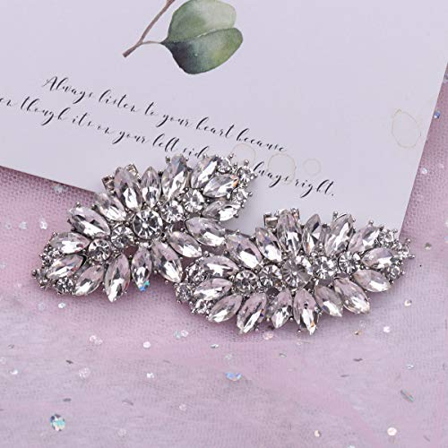 FEESHOW Elegant Rhinestone Crystal Metal Shoe Clips Wedding Party Pack Type C One Size by FEESHOW (Image #5)