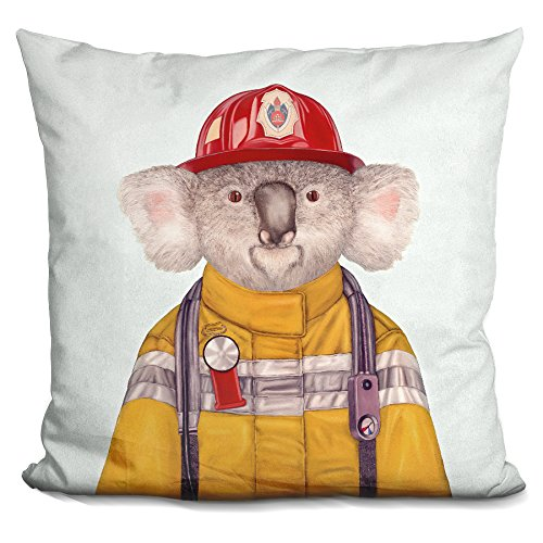 LiLiPi Koala Firefighter Decorative Accent Throw Pillow iLeesh ACW21-SQ-16