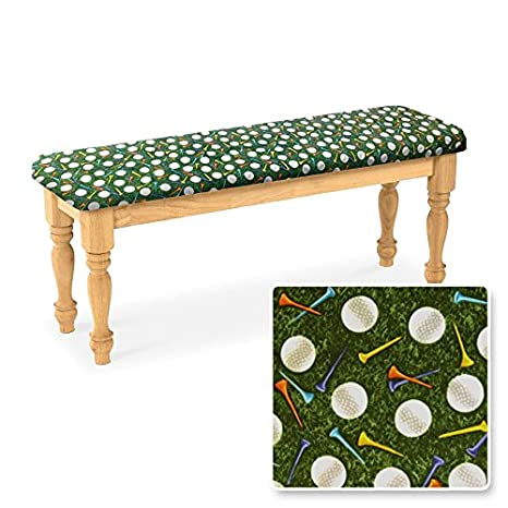 Groovy Amazon Com New Natural Finish Wooden Bench Featuring Your Machost Co Dining Chair Design Ideas Machostcouk