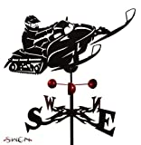 Farrell Series SNOWMOBILE FLAT POST Mount Weathervane ~NEW~ by SWEN Products