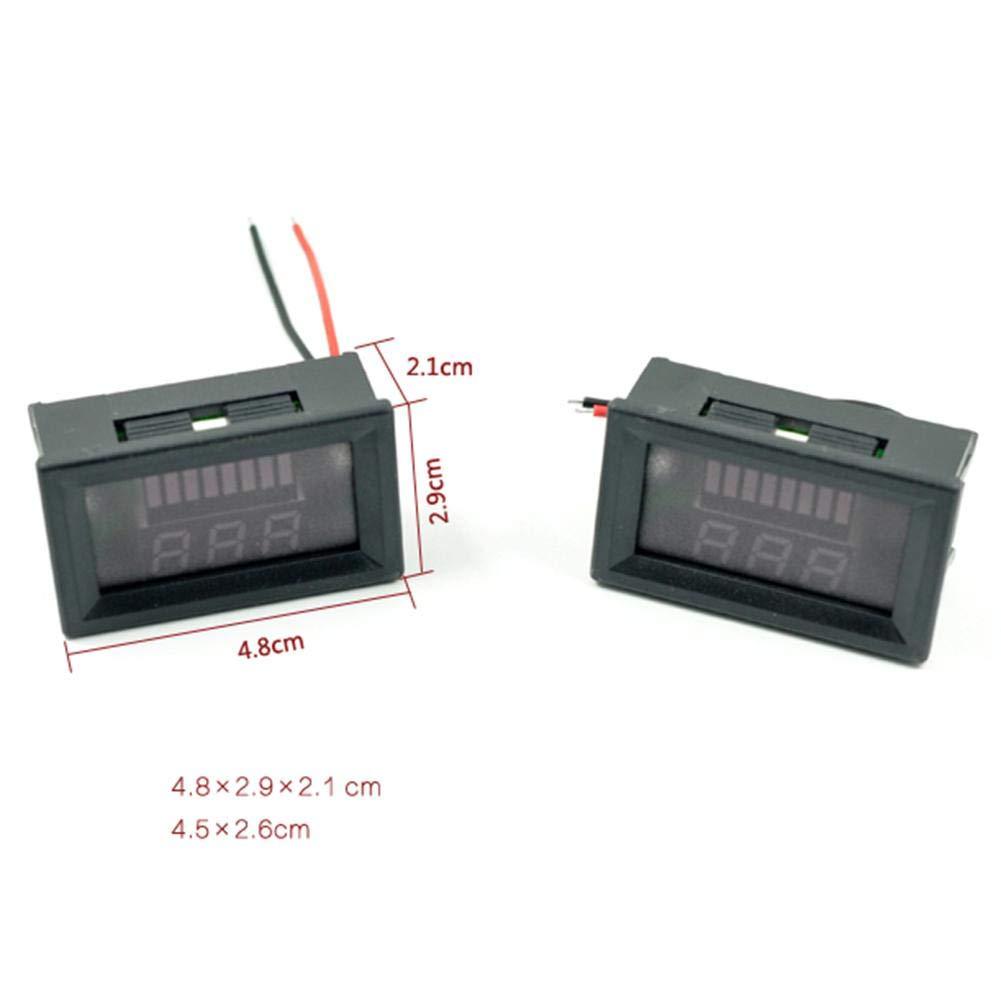 panel LED digital coche 12 V-60 V CC volt/ímetro RUNGAO volt/ímetro para motocicleta