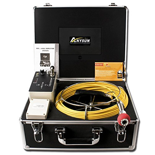 anysun-pipe-inspection-camera-drain-sewer-industrial-endoscope-pic30dvr-waterproof-ip68-30m100ft-snake-video-system-with-7-inch-lcd-monitor-1000tvl-sony-ccd-dvr-recorder-8gb-sd-card-include