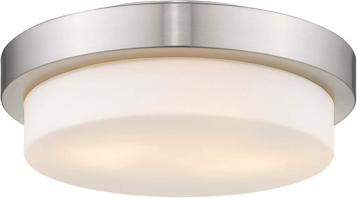 Limited time for free shipping Golden Lighting 1270-13 PW Flush Mount Opal with Glass Shades P Sales results No. 1