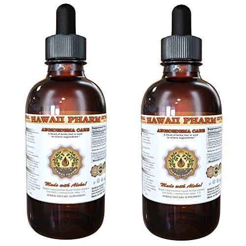 Angioedema Care Tincture, Goldenseal (Hydrastis Canadensis) Root, Licorice (Glycyrrhiza Glabra) Root, Chamomile (Matricaria Recutita) Flowers Liquid Extract 2x4 oz by HawaiiPharm