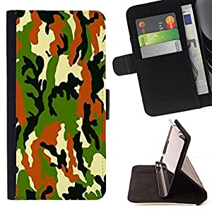 - Camo Camouflage Army Us Troops - Estilo PU billetera de cuero del soporte del tir???¡¯????n [solapa de cierre] Cubierta- For Apple Iphone 5C £¨ Devil Case £©