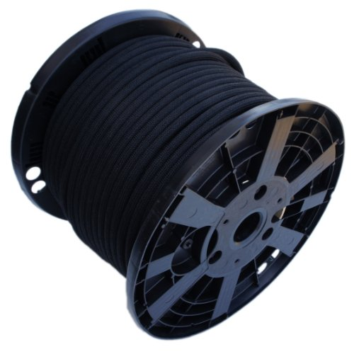 1/2'' x 250' Black Shock Bungee Rubber Rope Cord - Woven Jacketed by Harriscos LLC