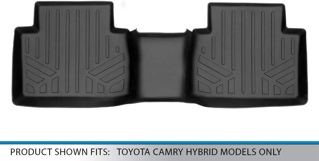 SMARTLINER Floor-Mats 2nd Row Liner Black for 2018-2020 Toyota Camry Hybrid Models Only