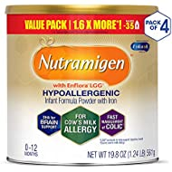 Enfamil Nutramigen Colic Baby Formula Lactose Free Milk Powder, 19.8 Ounce (Pack of 4), Probiotics, Iron