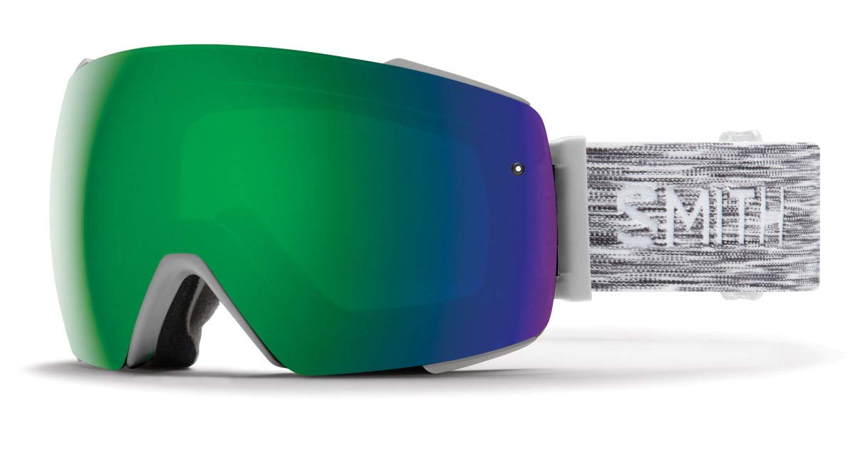 Smith I/O Mag Asian Fit Snow Goggle (CLOUDGREY/CHROMAPOP Sun Green Mirror) - Men's