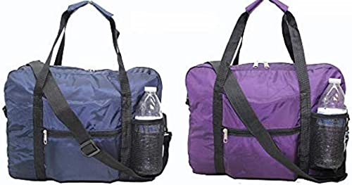 16 40cm Expandable Hand Baggage Personal Item BUY ONE GET ONE FREE for EU airlines navy-purple