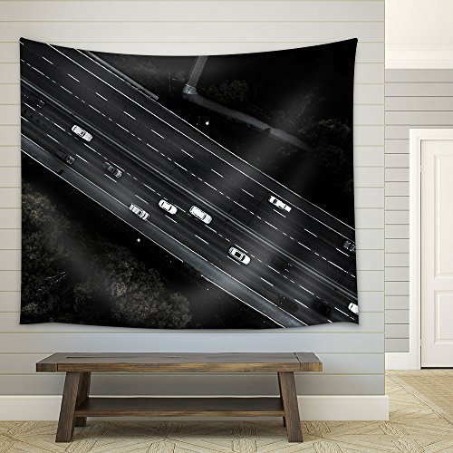 Bird Eye View of Highway Fabric Wall