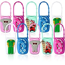 10 Pieces Cartoon Silicone Hand Sanitizer Cases Colorful 50ml Bottle Protective Cases Portable Travel Container Cases for 50ml Hand Sanitizer Liquid Soap Bottle Holders
