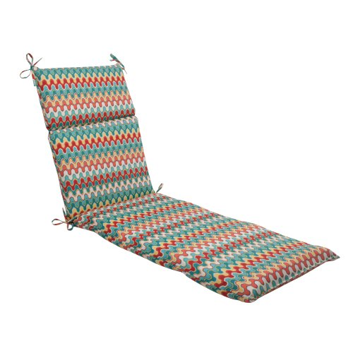 Pillow Perfect Almohada ideal en interiores/al aire última intervensión Nivala Chaise Lounge cojín (), diseño de flores, multicolor, Contemporáneo, Multicolor, 72.5 in. L X 21 in. W X 3 in. D, 1